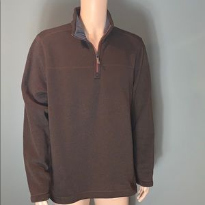 G.H Bass & Co. Mens Brown Quarter Zip Sweater XL